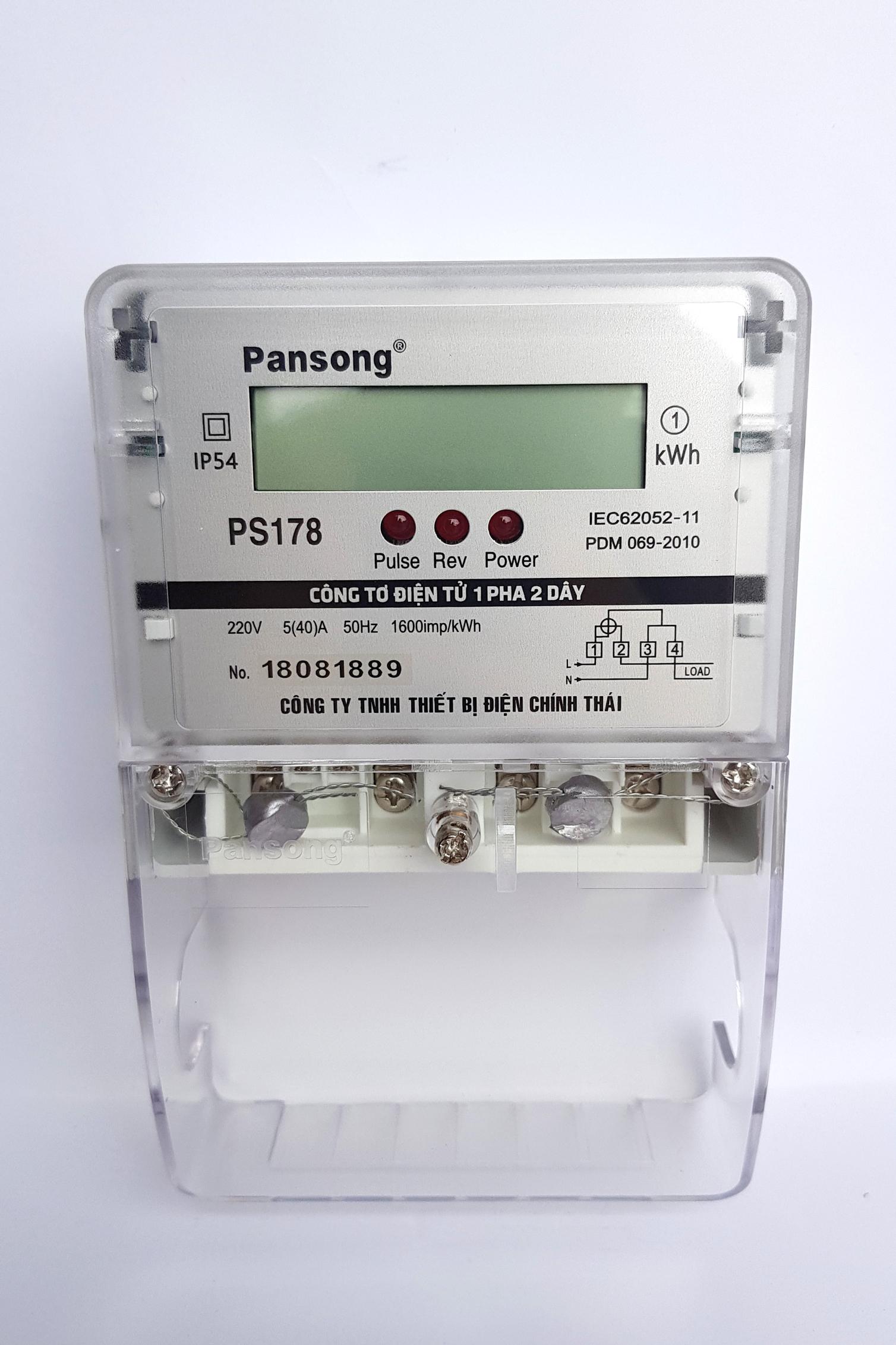 CÔNG TƠ ĐIỆN TỬ PANSONG PS178-5(40)A